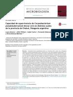 Capacidad de Supervivencia de Corynebacterium