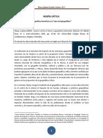 """RESEÑA CRÍTICA Geopolítica feminista y el """"ojo anti-geopolítico"""""""