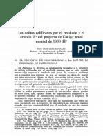 DIEZ RIPOLLÉS, José Luis. Los Delitos Calificados Por El Resultado y El Resultado (II)