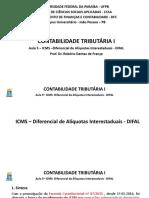 Aula 5 - ICMS - Diferencial de Alquota - DIFAL