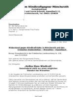 Mönchsroth Windkraftanlage Bürgerprotest 01