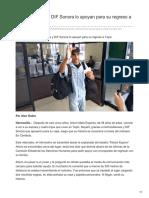 05-09-2018-Radioescuchas y DIF Sonora Lo Apoyan Para Su Regreso a Tepic - Uniradio noticias Obregon