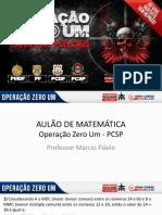 Matemática Operação Zero Um - Pcsp