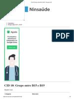 CID 10 Grupo Entre B15 e B19 - Pesquisa CID