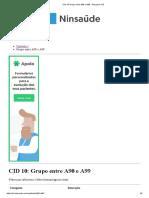 CID 10 Grupo Entre A90 e A99 - Pesquisa CID