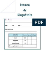 5to Grado - Examen de Diagnóstico (2018-2019) - Copia