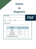 5to Grado - Examen de Diagnóstico (2018-2019) - Copia