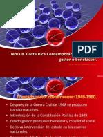 La Sociedad Costarricense de 1950 a 1980