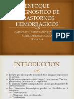 Enfoque Diagnostico de Transtornos Hemorragicos