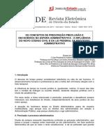 FORTINI_conceitos de Prescrição, Preclusão e Decadência