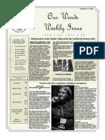 Newsletter Volume 9 Issue 31