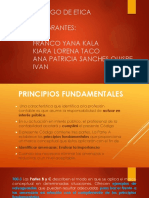 Codigo de Etica ,Art 100.1-100.11