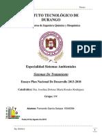 Ensayo Plan Nacional de Desarrollo