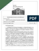 Programa de Didactica de Las Practicas Del Lenguaje I