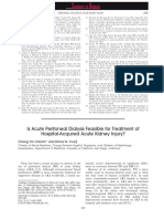 Is Acute Peritoneal Dialysis Feasible for Treatment Of