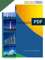 Generador Eólico Manual de Procedimientos
