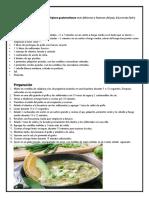 Recetario Comida Tipica de Guatemala