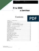 Carol Kaye Jazz Improvisation for Bass