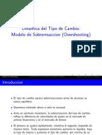 Dinamica Del Tipo de Cambio_ Modelo de Sobrerreaccion (Overshooting)