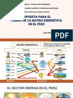 Cambio de La Matriz Energetica en El Perú
