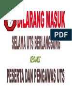DILARANG MASUK ukk.doc