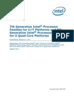 7th Gen Core Family Mobile u y Processor Lines Datasheet Vol 1