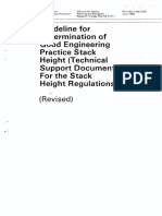 Guideline ForDetermination of Good Engineering Practice Stacl Height(Technical Support Document for the Stack Height Regulations)