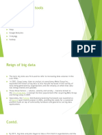 Various Big Data Tools