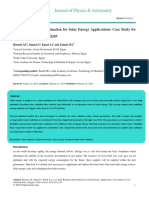 Solar Radiation Determination for Solar Energy Applications Case Study for Two Different Sites in Egypt