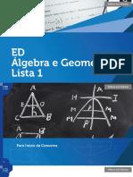ED Álgebra e Geometria