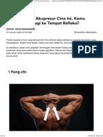 Pelajari 11 Titik Akupresur Cina Ini, Kamu Enggak Perlu Lagi Ke Tempat Refleksi! - NET