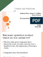 Organization Vision and Visionary Organizations