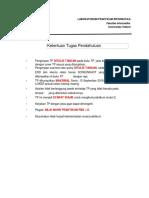 Soal Tugas Pendahuluan Modul 2 Pemodelan Basis Data