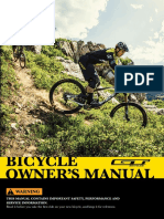 GT Bicycle OwnersManual