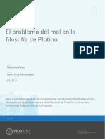 El Problema Del Mal en Plotino