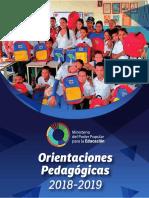 Orientaciones Pedagogicas 2018-2019