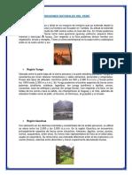 8 Regiones Naturales Del Perú