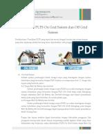Perbedaan on Grid Sistem Dan Off Grid Sistem Pada PLTS
