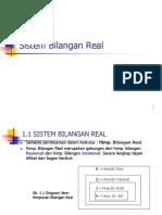 01 Sistem Bilangan Real