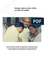 The Everlasting Controversies of the Sex Life of Gandhi