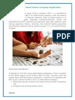 Obtain Asset Finance Company Registration