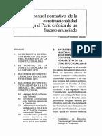 El Control Normativo de La Constitucionalidad en El Peru