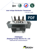 10kV & 20kV Dual Voltage Tranformer Catalog