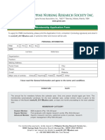 Pnrsi Membership Application Form 2018