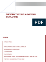 SS DES-07A Emergency Vessels Blow Down Simulations