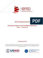 ISFED 1st Pre-election Interim Report - 2018 Presidential Election