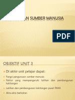 Unit 3 - Pengurusan Sumber Manusia