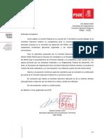 Calendario elecciones primarias PSME-PSOE