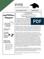 September 2002 Raven Newsletter Juneau Audubon Society