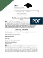 January 2003 Raven Newsletter Juneau Audubon Society